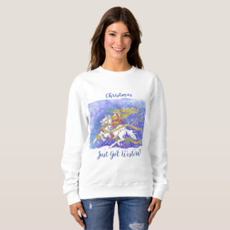 """Christmas Just Got Western!"" Ladies Sweat Shirt"
