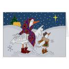 Christmas Kachka (Duck) Ukrainian Folk Art Card