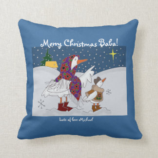 Christmas Kachka (Duck) Ukrainian Folk Art Throw Pillow