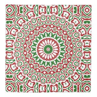 Christmas Kaleidoscope Duvet Cover