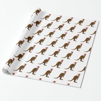 Christmas Kangaroo Wrapping Paper