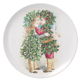 Christmas Kiss Party Plate