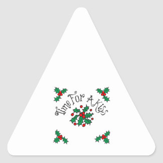 Christmas Kiss Triangle Stickers