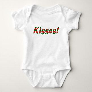 Christmas Kisses Baby Bodysuit