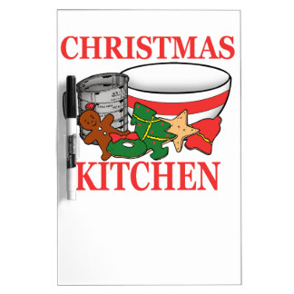 christmas kitchen dry erase board