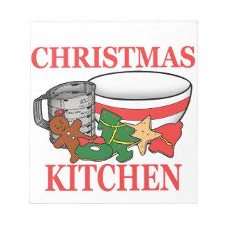 christmas kitchen notepad