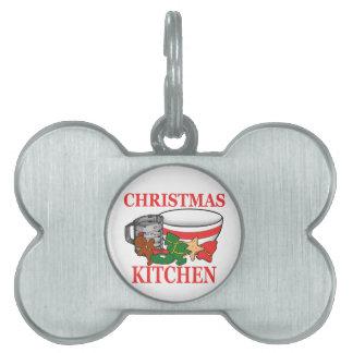 christmas kitchen pet ID tag