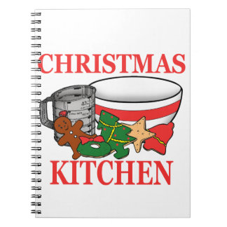 christmas kitchen spiral notebook