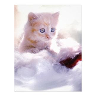 Christmas kitten favor letterhead