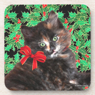 """Christmas Kitty"" Coaster Set"