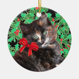 """Christmas Kitty"" Ornament"