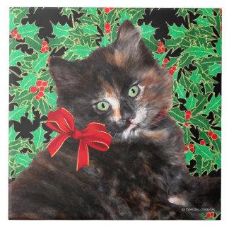 """""""Christmas Kitty"""" Tile"""