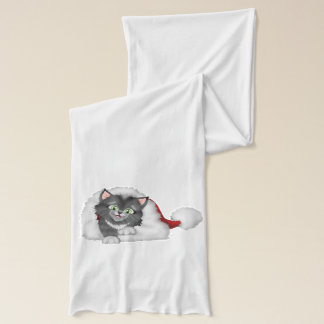 Christmas Kitty with Red Hat Scarf