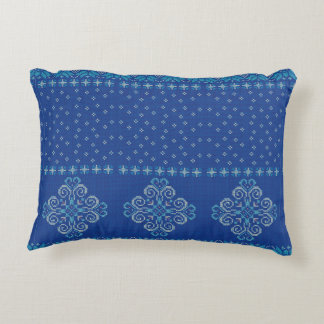 Christmas knitted pattern accent pillow