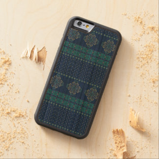 Christmas knitted pattern carved cherry iPhone 6 bumper case