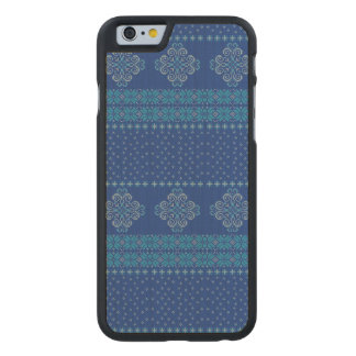 Christmas knitted pattern carved maple iPhone 6 case