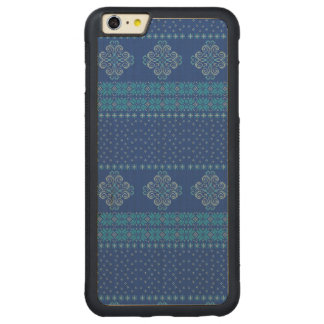 Christmas knitted pattern carved maple iPhone 6 plus bumper case