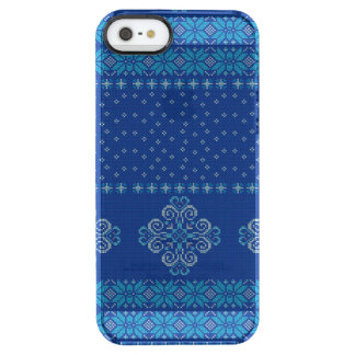 Christmas knitted pattern clear iPhone SE/5/5s case