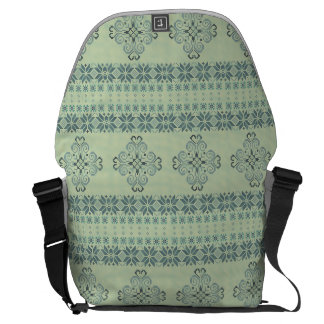 Christmas knitted pattern commuter bags