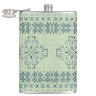 Christmas knitted pattern hip flask