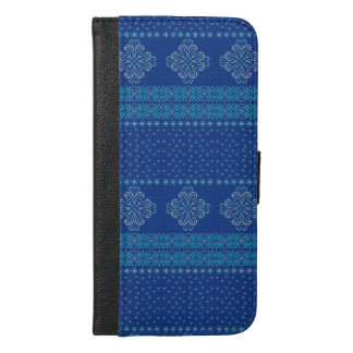 Christmas knitted pattern iPhone 6/6s plus wallet case