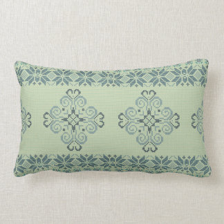Christmas knitted pattern lumbar pillow