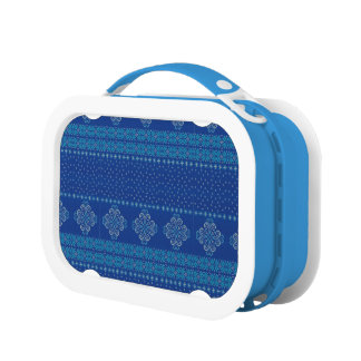 Christmas knitted pattern lunch box