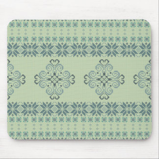Christmas knitted pattern mouse pad