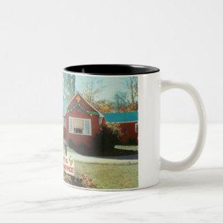 Christmas knotty Post office Two-Tone Coffee Mug