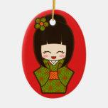 Christmas Kokeshi Christmas Tree Ornaments