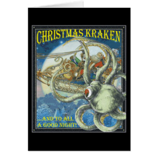 Christmas Kraken Card