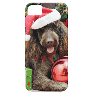 Christmas - LabraDoodle - Harley iPhone 5 Cases