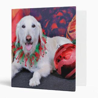 Christmas - LabraDoodle - Izzy Vinyl Binder