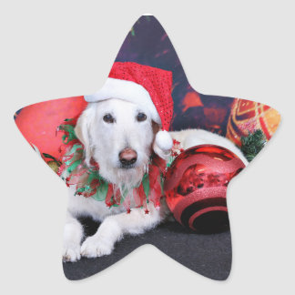 Christmas - LabraDoodle - Izzy Star Stickers