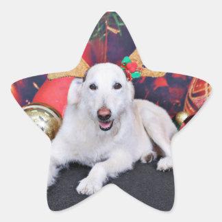 Christmas - LabraDoodle - Izzy Sticker