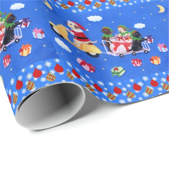 Christmas Labrador Delivery Painting Wrapping Paper