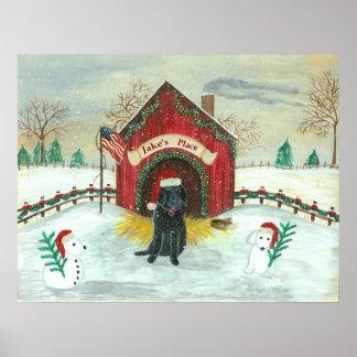 Christmas Labrador Posters