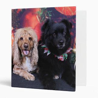 Christmas - Labrador X Cheyanne Cocker X Sundance 3 Ring Binders
