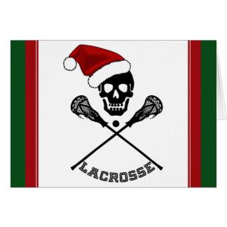 Christmas Lacrosse Card