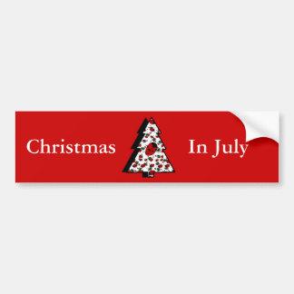 Christmas Ladybug Tree Bumper Sticker