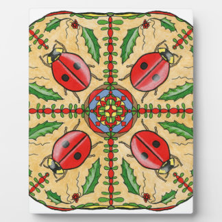 Christmas Ladybugs Plaque