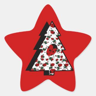 CHRISTMAS LADYBUGS STAR STICKER