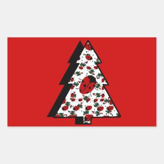 CHRISTMAS LADYBUGS STICKER