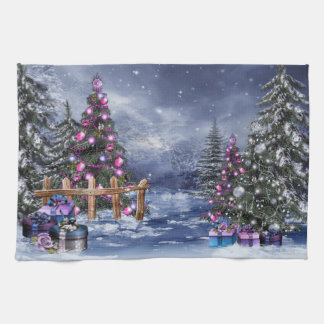 Christmas Landscape Kitchen Towel