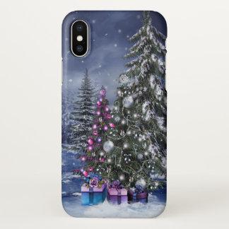 Christmas Landscape Zazzle iPhone X Case