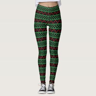 Christmas Leggings - Customizable Background Color