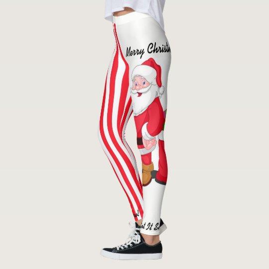 Christmas Leggings Santa Personalize S - XL