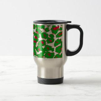 Christmas Leopard Spots Pattern Travel Mug