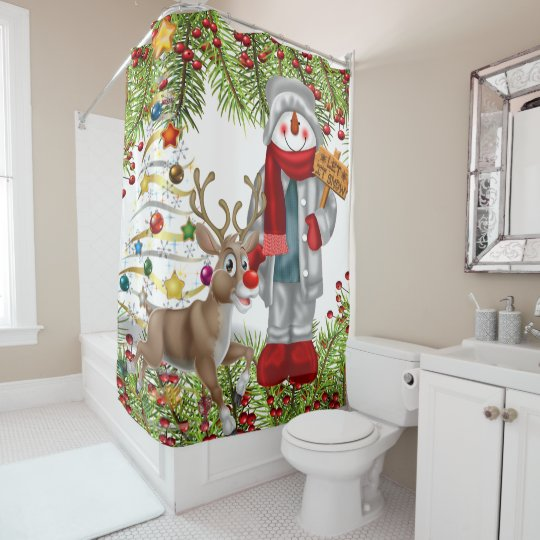 christmas let it snow festive bathroom decoration