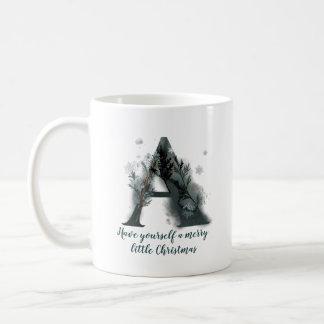 Christmas Letter A Alphabet Coffee Mug